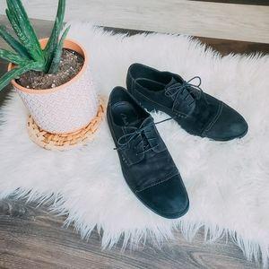 Clark's suede shoes